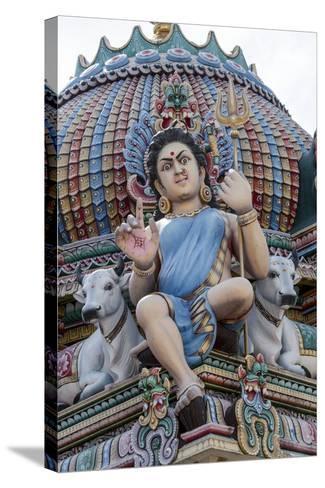 Hindu Temple, Singapore-Paul Souders-Stretched Canvas Print