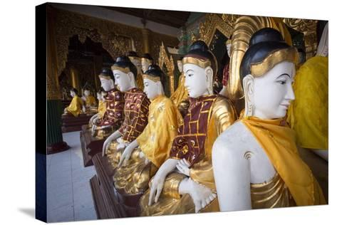 Buddhas at Shwedagon Pagoda in Yangon, Myanmar (Burma)-John and Lisa Merrill-Stretched Canvas Print