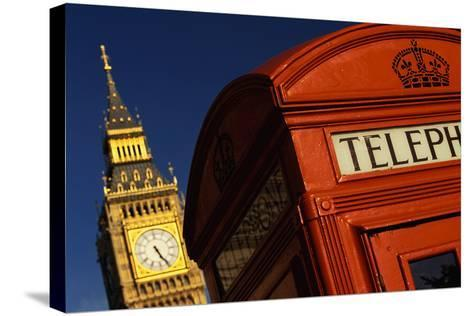 Big Ben and Telephone Booth-Jon Hicks-Stretched Canvas Print