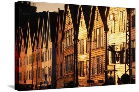 Old Merchant Houses at Sunset-Paul Souders-Stretched Canvas Print