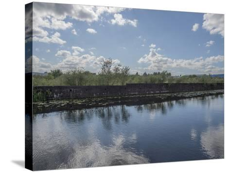 Industrial Canal-Robert Brook-Stretched Canvas Print