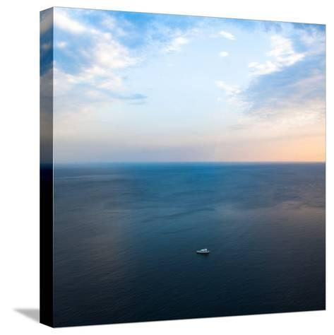 Ship in the Sea-Oleh Slobodeniuk-Stretched Canvas Print