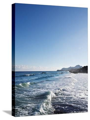 Blue Sky above Sea with Some Waves-Norbert Schaefer-Stretched Canvas Print