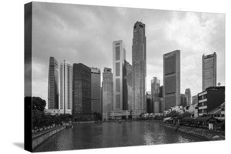Singapore Skyline-Paul Souders-Stretched Canvas Print