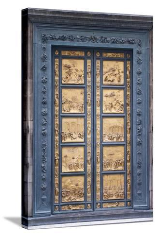 Le Porte Del Paradiso, East Side of Baptistery, by Lorenzo Ghiberti-Guido Cozzi-Stretched Canvas Print