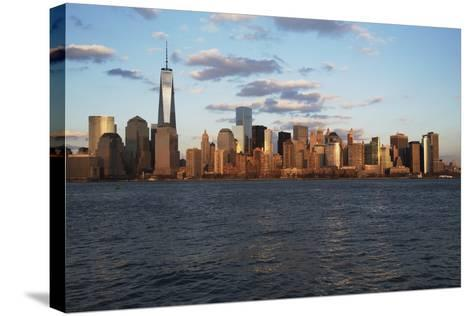 Panoramic View of New York City Skyline on Water Featuring One World Trade Center (1Wtc), Freedom T-Joseph Sohm-Stretched Canvas Print