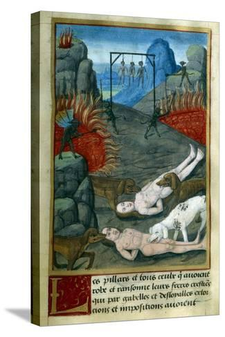 Punishment for Thieves and Looters in Hell, by Jean Gerson--Stretched Canvas Print