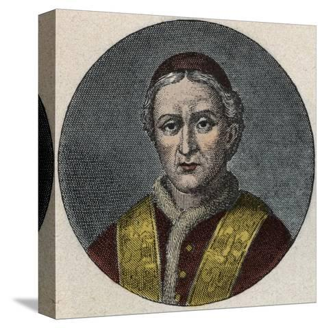 Portrait of the Pope Leo XII-Stefano Bianchetti-Stretched Canvas Print
