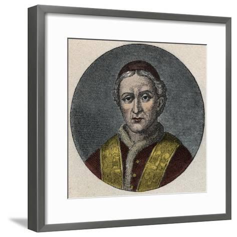 Portrait of the Pope Leo XII-Stefano Bianchetti-Framed Art Print
