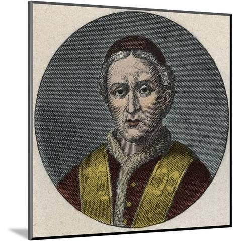 Portrait of the Pope Leo XII-Stefano Bianchetti-Mounted Giclee Print