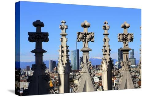 Milano New Skyline (Porta Nuova District) View from the Duomo.-Stefano Amantini-Stretched Canvas Print