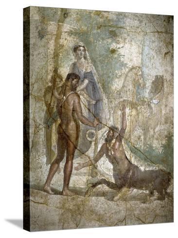 Roman Art : Hercules Saving Deianira Raped by the Centaur Nessus--Stretched Canvas Print
