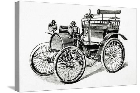 Car. 19Th Century. Engraving.-Tarker-Stretched Canvas Print