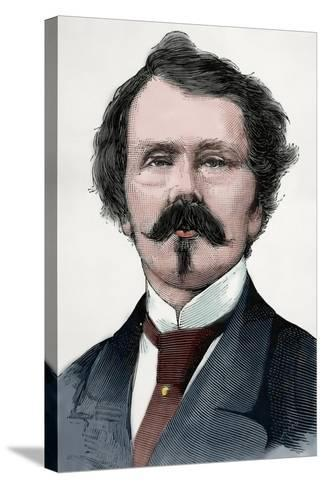 Thomas Mayne Reid (1818-1883). Scots-Irish American Novelist. Engraving. Colored.-Tarker-Stretched Canvas Print