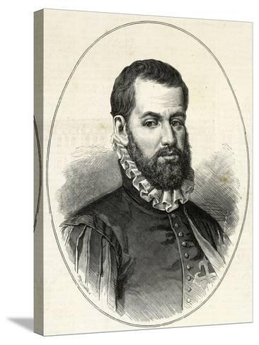 Pedro Menendez De Aviles (1519-1574). Engraving.-Tarker-Stretched Canvas Print