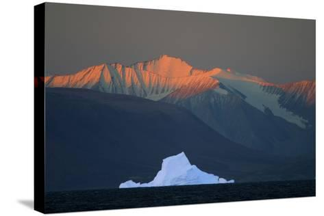 Iceberg in Front of Mountains-DLILLC-Stretched Canvas Print