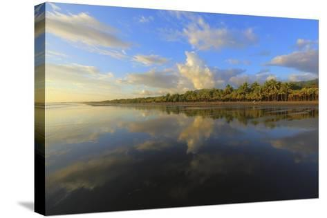 Low Tide Sunset on Playa Linda near Dominical-Stefano Amantini-Stretched Canvas Print