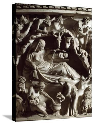 The Nativity, by Pisano--Stretched Canvas Print