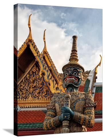 Yaksha at Wat Phra Kaeo the Grand Palace-Terry Eggers-Stretched Canvas Print