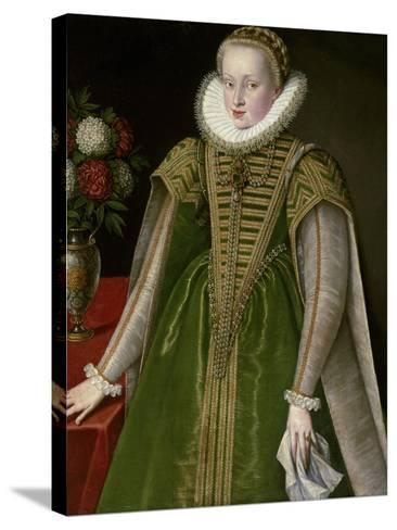 Portrait of Maria Christina of Austria, Princess of Transylvania--Stretched Canvas Print