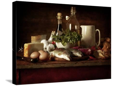 Range of Fresh Ingredients for Cooking-Steve Lupton-Stretched Canvas Print