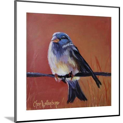 Bird on a Barb-Cheri Wollenberg-Mounted Art Print