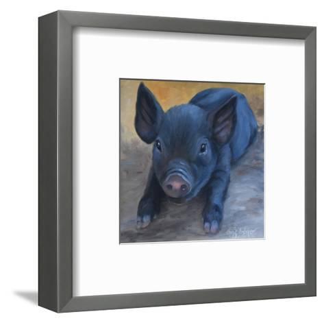 Cole's Baby Pig-Cheri Wollenberg-Framed Art Print