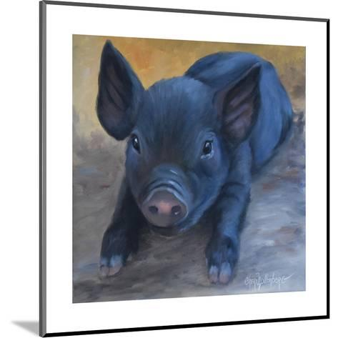 Cole's Baby Pig-Cheri Wollenberg-Mounted Art Print