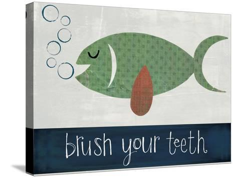 Brush Your Teeth-Katie Doucette-Stretched Canvas Print