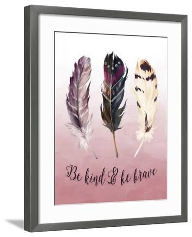 Be Kind and Be Brave Pink-Tara Moss-Framed Art Print