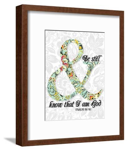 Be Still Psalm 46 10-Tara Moss-Framed Art Print