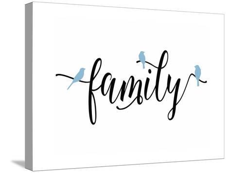 Family Blue Birds-Tara Moss-Stretched Canvas Print