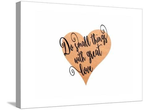 Small Things Great Love Pink-Tara Moss-Stretched Canvas Print