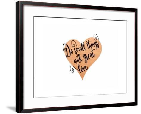 Small Things Great Love Pink-Tara Moss-Framed Art Print