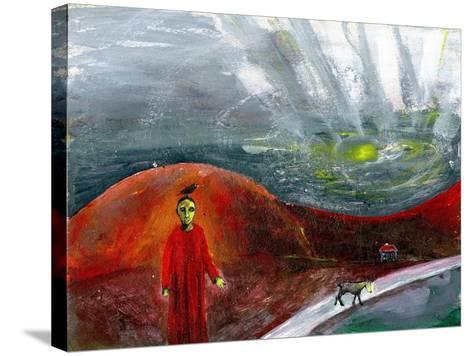 Yellow-Faced Dog Take Me Home, 2005-Gigi Sudbury-Stretched Canvas Print
