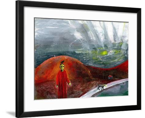 Yellow-Faced Dog Take Me Home, 2005-Gigi Sudbury-Framed Art Print