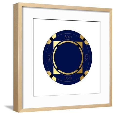 Pokerchip $200, 2015-Francois Domain-Framed Art Print