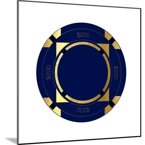 Pokerchip $200, 2015-Francois Domain-Mounted Giclee Print