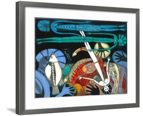 The Dream of the Fish - Falling Star-Annael Anelia Pavlova-Framed Art Print