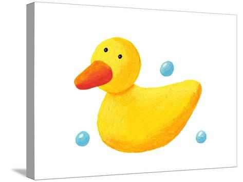 Cute Rubber Duck-andreapetrlik-Stretched Canvas Print
