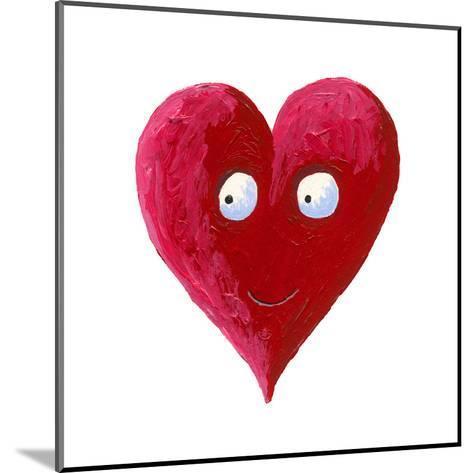 Cute Smiling Heart-andreapetrlik-Mounted Art Print