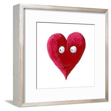 Cute Smiling Heart-andreapetrlik-Framed Art Print