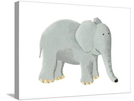 Cute Elephant-andreapetrlik-Stretched Canvas Print