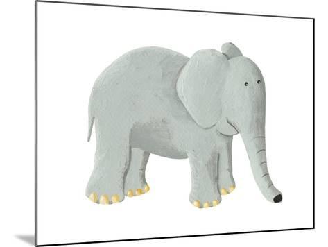 Cute Elephant-andreapetrlik-Mounted Art Print