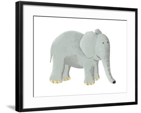 Cute Elephant-andreapetrlik-Framed Art Print