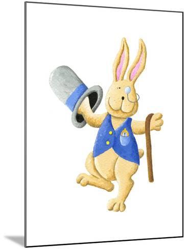 Dancing Mr. Rabbit-andreapetrlik-Mounted Art Print