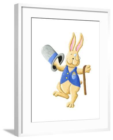 Dancing Mr. Rabbit-andreapetrlik-Framed Art Print