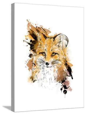 Fox. Graphic Drawing.-MargaritaSh-Stretched Canvas Print