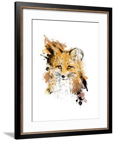 Fox. Graphic Drawing.-MargaritaSh-Framed Art Print