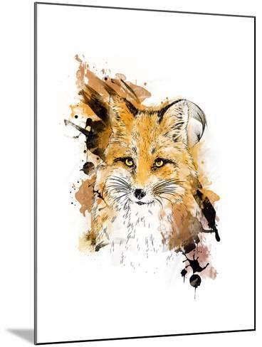Fox. Graphic Drawing.-MargaritaSh-Mounted Art Print